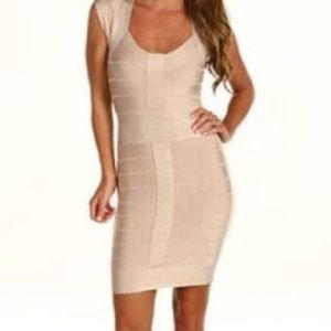 French Connection Dresses & Skirts - French Connection nude bandage dress