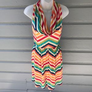 Judith March Dresses & Skirts - Judith March Chevron Colorful Dress