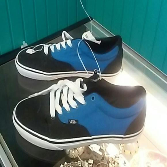 76 off vans other vans blue and black size 9 12 shoe