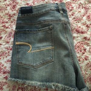 vintage look jean shorts