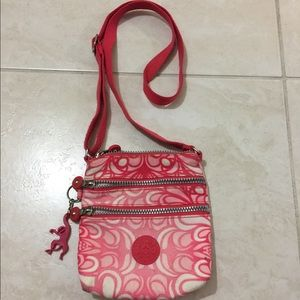 Kipling Handbags - Kipling Pink Print Crossbody Bag