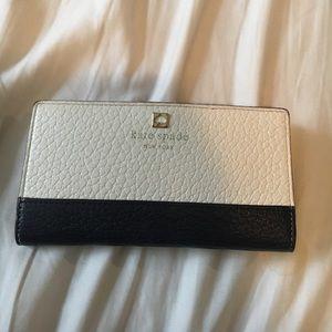 Kate Spade Navy/White Color Block Wallet