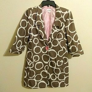 3 Sisters Jackets & Blazers - 3 Sisters sz S cotton lined blazer jacket coat