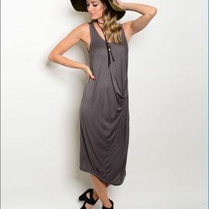 Love Riche Dresses & Skirts - CLEARANCE! Charcoal Midi Dress