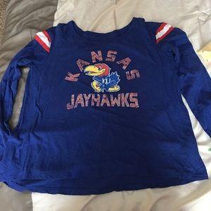 Woman's Touch Apparel Tops - Size medium university of Kansas shirt