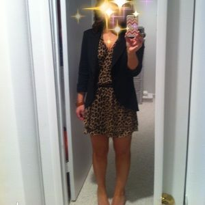 Parker Dresses & Skirts - Parker Leopard Print Silk Wrap Racerback Dress XS