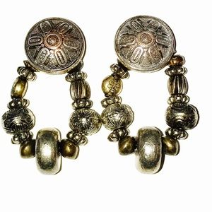 Vintage Gold & Silver Clip Earrings