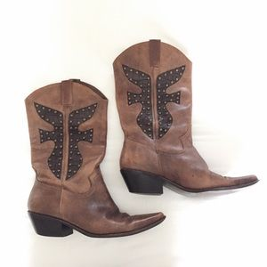 Matisse Shoes - Matisse Vintage Leather Cowboy Boots