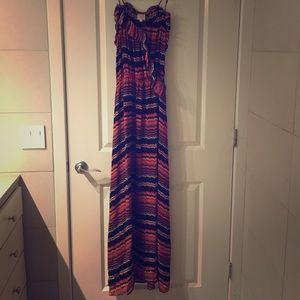Parker Dresses & Skirts - Parker Chevron Silk Maxi Dress - XS