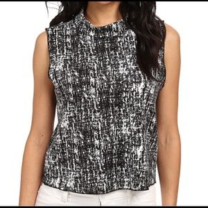 Vince Camuto Printed Crop Top