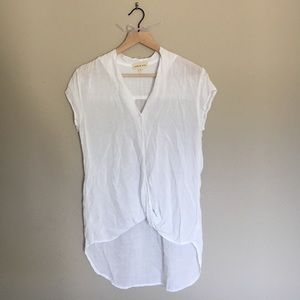 NWOT Cloth and Stone wrap front tunic top
