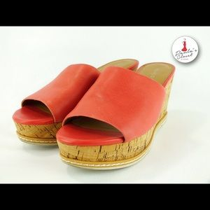 Franco Sarto-Cary Pink leather Wedges