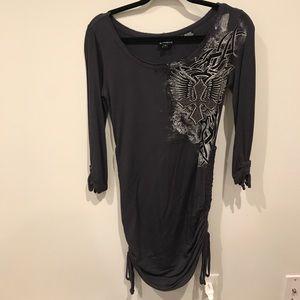 Rock & Roll Cowgirl Dresses & Skirts - Dark Grey Rock & Roll Cowgirl Dress
