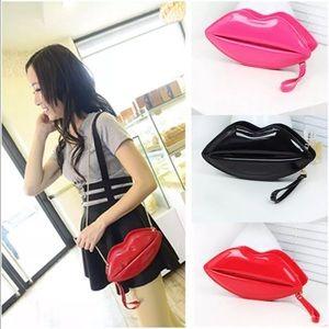 Handbags - Lips Crossbody Handbag NEW with tags
