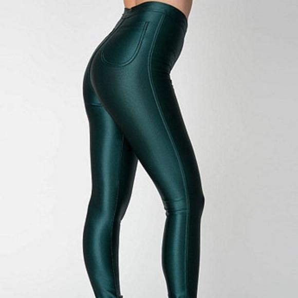 a6d007cf937f4 American Apparel Pants | New Aa Forest Green Disco 2017 | Poshmark