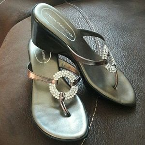Athena Alexander  Shoes - Athena Alexander pewter and ringtone sandals