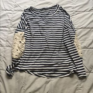 Dainty Hooligan Tops - Cute stripe top