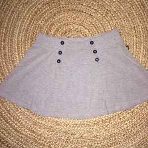 Self Esteem Dresses & Skirts - Gray cotton mini skirt Anchor Button Details Med