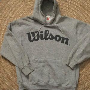 Wilson Other - Wilson Logo hoodie Vintage Size Medium Gray