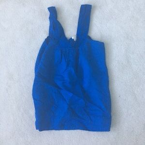 J crew royal blue halter top