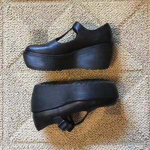 Black Platform Wedge Mary-Jane Doc Martens Size 39
