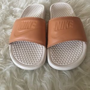 Nike Shoes - Nude Nike Benny Benassi slides 92ae8a2d0