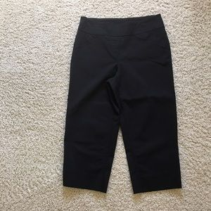 Westbound Pants - Black crop Capri pants soft comfortable 8