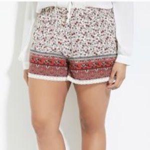 Forever 21+ Plus Size Boho Shorts