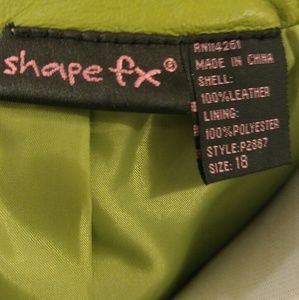 Shape FX Jackets & Coats - Spring Green Peplum Leather Jacket