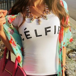 "Graphic ""Celfie"" Tee Shirt"