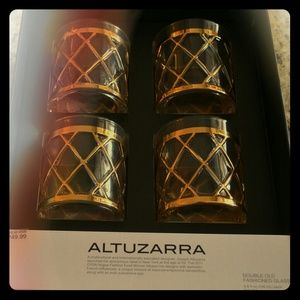 Altuzarra Other - Altuzarra Gold Accent Double Old Fashioned Glasses