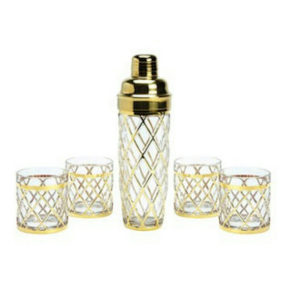 Altuzarra Other - Altuzarra Gold Accented Crystal Cocktail Shaker
