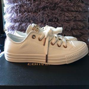 Converse Shoes - ALLSTAR LOW LTHR •EGRET ROSE GOLD SNAKE EXCLUSIVE 67a997463