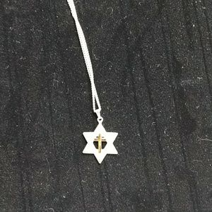 Jewelry - Closet clear out Cross & star of david necklace