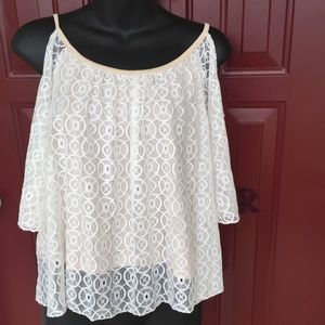 Its our Time Tops - Trendy Lace Cold shoulder Top!
