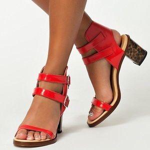 MM6 Maison Margiela Shoes - Maison Margiela leopard print hologram heel sandal