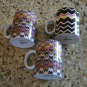 Missoni Cafe - Set of 3 Mugs