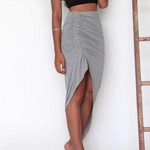 Other - Gray irregular skirt