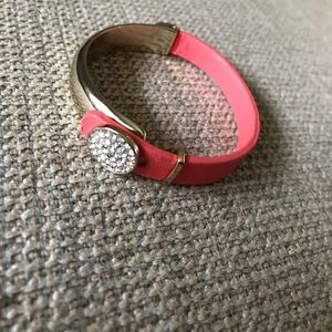 Jewelry - Coral leather bracelet!