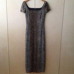 kookai leopard maxi dress long 1 or 34 animal NWT