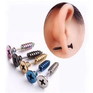 Other - Punk Screw Pierced Biker Earring for Men or Women