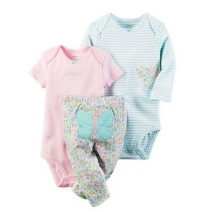 Carter's Other - Baby Girl Carter's Graphic Bodysuit & Print Pants