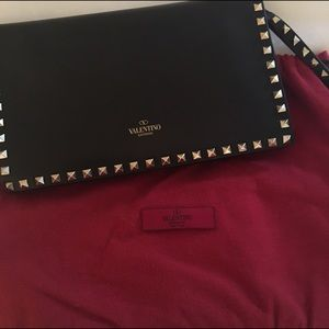 Valentino Handbags - Valentino Rockstud Flap Pocket Clutch