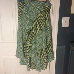Bright summery hi-lo skirt