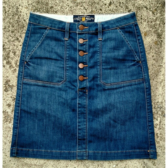 lucky brand nwot lucky brand denim skirt size 24 from