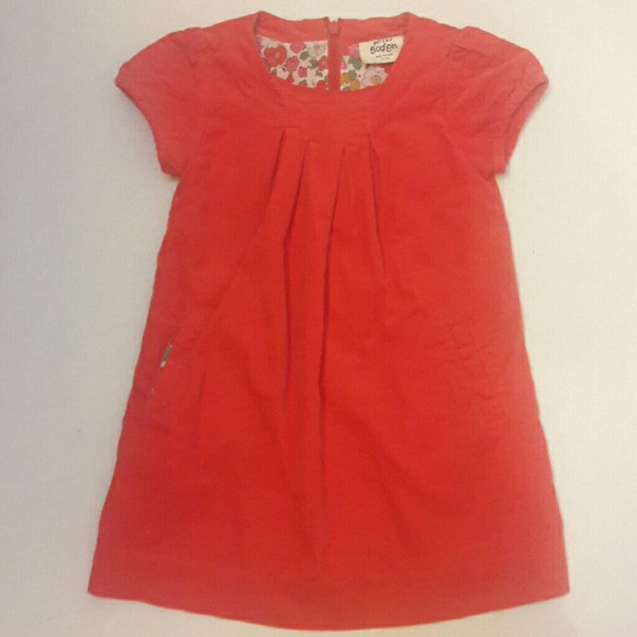 50 off mini boden other boden red corduroy dress with for Mini boden shop