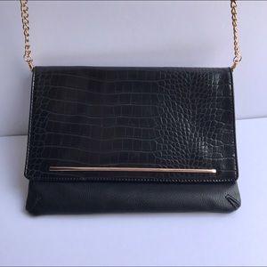Aldo Handbags - {aldo} black and gold crossbody purse