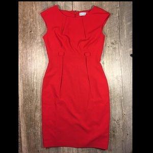 Marvin Richards red sheath midi dress