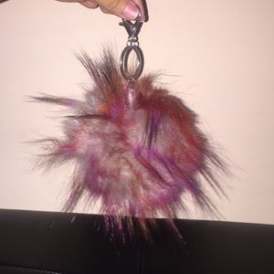 Pouf ball keychain / bag charm