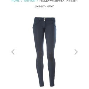 Freddy Pants - Freddy Satin Navy WR.UP Skinny Pants